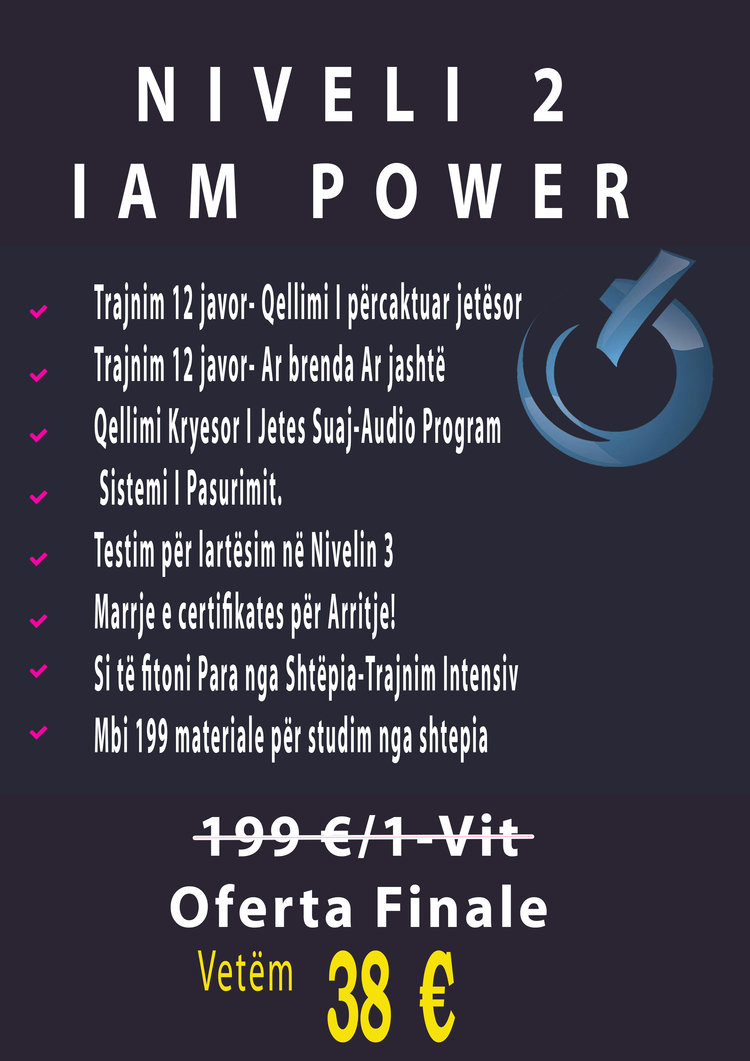 Niveli 2 Iam Power 199 EUro-81% =38 Euro